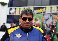 Feb 9, 2014; Pomona, CA, USA; NHRA top fuel dragster driver Sidnei Frigo during the Winternationals at Auto Club Raceway at Pomona. Mandatory Credit: Mark J. Rebilas-