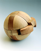 THREE DIMENSIONAL INTERLOCKING PUZZLE- SPHERE<br /> Antique Wooden Sphere Puzzle<br /> The solution to such a puzzle requires pattern recognition and creating a particular order.