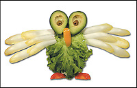"BNPS.co.uk (01202 558833).Pic: DanielRicon/BNPS..***Please Use Full Byline***..Owl...Leonardo Da Veggie!..An artist has transformed humble salad ingredients into works of art in a bid to encourage children to eat their greens...Daniel Ricon bought bags of lettuce, tomatoes, carrot, and cucumber and began layering them on a plate to make the healthy snacks seem more exciting...He created impressive pictures of animals including a cucumber crocodile, and a runner bean lion...Daniel also made a cat, duck, crab, owl, lion, rabbit, penguin, fish, cock, and even a martian...After completing each plate he took a picture and posted it to his website to document his wacky artwork...Daniel, 60, a visual artist from Paris in France, said: ""I have used flowers, leaves, stones, shells, hands, sweets and cakes in my work and it resulted in me working with vegetables...""Working with vegetables is to present a fun way to eat food to children and invite them to try unusual things...""The goal is to make a dish salad to encourage children to eat everything, the subjects are placed on a plate to be eaten......"