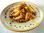 Traditional pene pasta &amp; Bolognese sauce