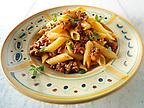Traditional pene pasta & Bolognese sauce