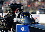 May 18, 2012; Topeka, KS, USA: NHRA top fuel dragster driver David Grubnic during qualifying for the Summer Nationals at Heartland Park Topeka. Mandatory Credit: Mark J. Rebilas-