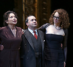 Mimi Lieber, Steven Rattazzi and Rebecca Taichman during the Broadway Opening Night Performance Curtain Call Bows for  'Indecent' at The Cort Theatre on April 18, 2017 in New York City.