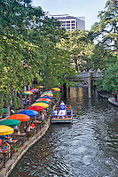 You can take your food to go on one of the many dining barges like the one below setting up outside of Casa Rio.  Many of the restaurants along the river use these dining barges to provide a unique experience along the riverwalk in San Antonio.  You can dine by the riverwalk or you can dine on the river it your choice.  This is why the riverwalk is a such a major attraction for tourist.  It is always a unique experience.