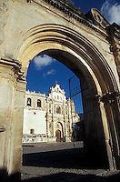 The Church of San Francisco in the Spanish Colonial city of Antigua, Guatemala