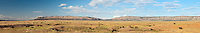 Aubrey Cliffs from Route 66 outside, Seligman, Arizona, ranchland, cattle, panorama