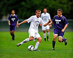 13 September 2009: University of New Hampshire Wildcats' midfielder Greg Brown, a Sophomore from Salem, NH, in action against the University of Portland Pilots during the second round of the 2009 Morgan Stanley Smith Barney Soccer Classic held at Centennial Field in Burlington, Vermont. The Pilots defeated the Wildcats 1-0 and inso doing were the Tournament Champions for 2009. Mandatory Photo Credit: Ed Wolfstein Photo