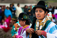 "A girl, wearing a colorful clothes, dances in a procession during the Inti Raymi celebration in Pichincha province, Ecuador, 27 June 2010. Inti Raymi, ""Festival of the Sun"" in Quechua language, is an ancient spiritual ceremony held in the Indian regions of the Andes, mainly in Ecuador and Peru. The lively celebration, set by the winter solstice, goes on for various days. The highland Indians, wearing beautiful costumes, dance, drink and sing with no rest. Colorful processions in honor of the God Inti (Sun) pass through the mountain villages giving thanks for the harvest and expressing their deep relation to the Mother Earth (Pachamama)."