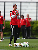 Germany goalkeeper Manuel Neuer during training ahead of tomorrow's World Cup Final