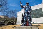 "The Birmingham Museum of Art, owned by the city of Birmingham, has free admission and is located in the city's cultural district, adjacent to Linn Park in downtown.  ""The Steelworker"" a pice by Luis Jimenez is installed by the main entrance of the museum."