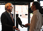The First Minister of Wales Carwyn Jones speaks to the BBC Wales <br /> 10 year Anniversary  - HCC - Meat Promotion Wales - Hybu Cig Cymru - Tue 04 June 2013 - Wales Millennium Centre - Cardiff<br /> <br /> &copy; www.ijcphotography.co.uk  and www.ijcsports.co.uk - PLEASE CREDIT IAN COOK