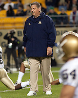 Notre Dame head coach Charlie Weis. The Pittsburgh Panthers defeat the Notre Dame Irish 27-22 at Heinz Field, Pittsburgh Pennsylvania on November 14, 2009..