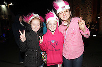 20/11/13<br /> Fans Katie McLoughlin (10),Abi Barrett (10) and Ellen OCollaghan (12) from Bundoran pictured arriving to the Cheerios Childline Concert at the O2 Dublin this evening&hellip;.<br /> Pic Collins Photos
