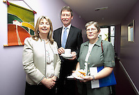 ***NO FEE PIC ***<br /> 11/06/2014<br /> (L to R) Shauna Curran, <br /> John Curran &amp;<br /> Sister Margaret Corkery during The Mercy Law Resource Centre's Annual Report for 2013 at Sophia Housing on Cork Street, Dublin.<br /> Photo:  Gareth Chaney Collins