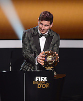 Fussball International  FIFA Ballon d Or   07.01.2013 Weltfussballer 2012  Lionel Messi (Argentinien)