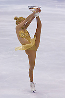 Viktoria Pavuk performs during the figure skating national championships held in Budapest's Practice Ice Center. Budapest, Hungary. Sunday, 09. January 2011. ATTILA VOLGYI