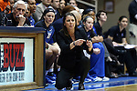 08 January 2015: Duke head coach Joanne P. McCallie. The Duke University Blue Devils hosted the Syracuse University Orange at Cameron Indoor Stadium in Durham, North Carolina in a 2014-15 NCAA Division I Women's Basketball game. Duke won the game 74-72.