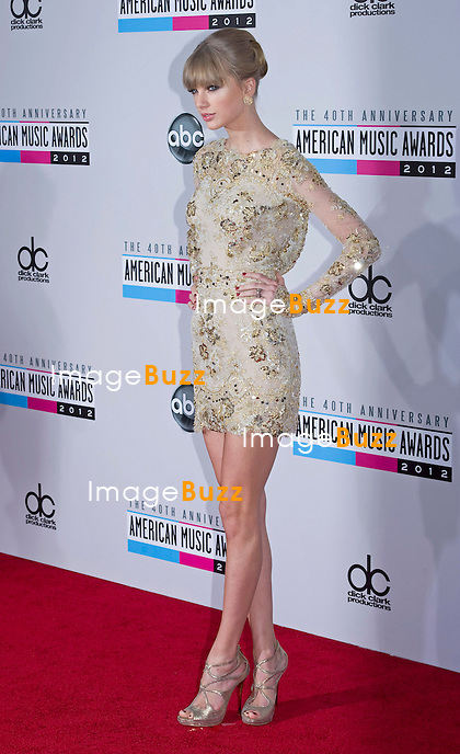 TAYLOR SWIFT.attends the 40th American Music Awards, Nokia Theatre, Los Angeles_18/11/2012