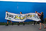 Manor Gardens Allotments Paradise Lost Protest Waterden Road E15. Sunday 23/9/2007. London Olympic 2012 site.