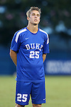 27 September 2016: Duke's Cody Brinkman. The Duke University Blue Devils hosted the Georgia State University Panthers at Koskinen Stadium in Durham, North Carolina in a 2016 NCAA Division I Men's Soccer match. Georgia State won the game 2-1 in two overtimes.