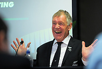 NZ Rugby president elect Maurice Trapp. The 2017 New Zealand Rugby Union Annual General Meeting at the New Zealand Rugby Union Head Office in Wellington, New Zealand on Thursday, 27 April 2017. Photo: Dave Lintott / lintottphoto.co.nz