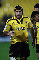 Andrew Hore calls his troops in before kickoff. Super 15 rugby match - Crusaders v Hurricanes at Westpac Stadium, Wellington, New Zealand on Saturday, 18 June 2011. Photo: Dave Lintott / lintottphoto.co.nz