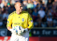 Seattle Sounders' goalkeeper Kasey Keller is pictured during the game against the Earthquakes at Buck Shaw Stadium in Santa Clara, California on July 31st, 2010.   Seattle Sounders defeated San Jose Earthquakes, 1-0.