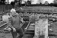 George Levinson grows cabbages in the cemetery in Torrington St. Clements, Norfolk.