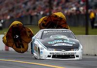 Oct 2, 2016; Mohnton, PA, USA; NHRA pro stock driver Matt Hartford during the Dodge Nationals at Maple Grove Raceway. Mandatory Credit: Mark J. Rebilas-USA TODAY Sports
