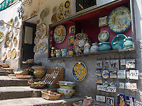 Handmade Ceramics in Gift Shop, Ravello, Amalfi Coast, Campania, Italy, Europe, World Heritage Site