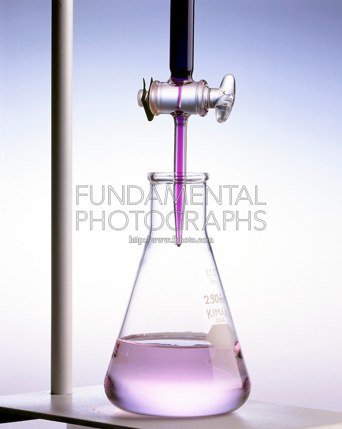 TITRATION: POTASSIUM PERMANGANATE &amp; OXALATE (2 of 2)<br /> Adding Potassium Permanganate To The Solution<br /> KMnO4(aq) is added to C2H2O4(aq)<br /> At endpoint, the solution turns pink as purple color of MnO4- ion fades to pink Mn2+. Unbalanced equation: MnO4-(aq) + [C2O4]2-(aq) -&gt; Mn2+(aq) + CO2(g).