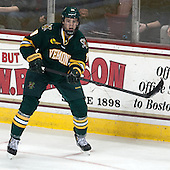 Matt White (UVM - 19) - The Boston College Eagles defeated the University of Vermont Catamounts 4-1 on Friday, February 1, 2013, at Kelley Rink in Conte Forum in Chestnut Hill, Massachusetts.