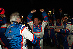 Pit Lane Victory Celebration #10 Team Oreca Matmut Peugeot 908 HDi-FAP: Nicolas Lapierre, Loic Duval, Olivier Panis