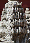 models of khmer style stupas at the National Museum