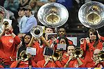 Ole Miss pep band vs. Florida in the SEC championship game at Bridgestone Arena in Nashville, Tenn. on Sunday, March 17, 2013.