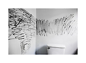 "Fingerprint Dust, Duke Lacrosse House Bathroom, Durham, North Carolina, 2008 | D.L. Anderson | $450 | Limited Edition 1 of 5 | Print - 24x36"" Light Jet Fuji Crystal Archive, lustre