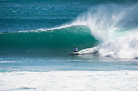 MARGARET RIVER, Western Australia/AUS (Wednesday, March 29, 2017) - The Drug Aware Margaret River Pro got underway today in historic fashion with the first round of the contest being held at North Point, Gracetown about 20 kilometres north of the Margaret River main Break.<br /> A 4.5 meter south swell and offshore winds  were the motivation for the move with North Point providing barrelling 2 meter plus right handers.<br /> Margaret River area on Western Australia offers an exciting field of play for the world's surfing elite, with the other options at Main Break and The Box. <br /> There were a number of surprising results with injury wild card Jesse Mendes (BRA) and tour rookie Ian Gouveia (BRA) winning through with the current World Champion, John John Florence (HAW), Jordy Smith (ZAF) and Kelly Slater (USA) had convincing wins.   Photo: joliphotos.com