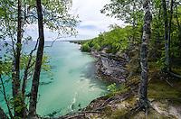 The sandstone cliffs of Pictured Rocks National Lakeshore. Munising, MI