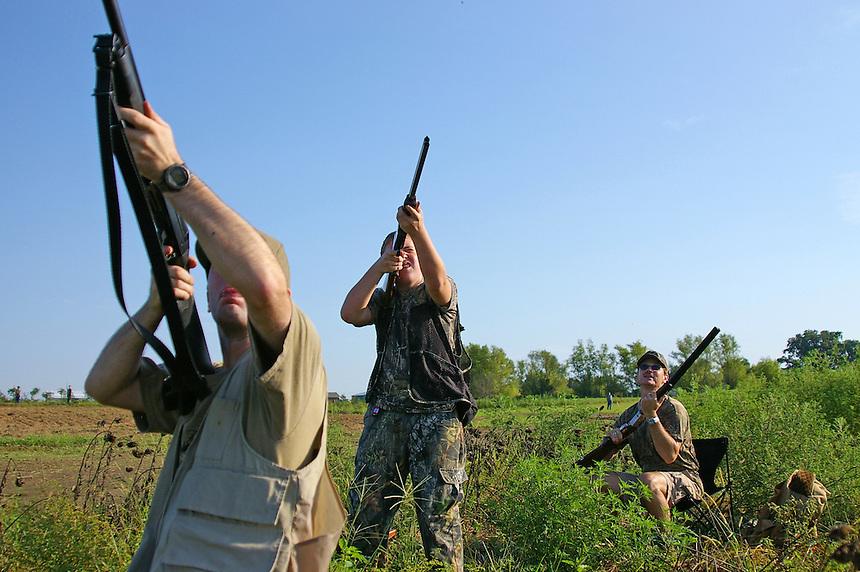 Mourning dove hunters, Cross County, Arkansas