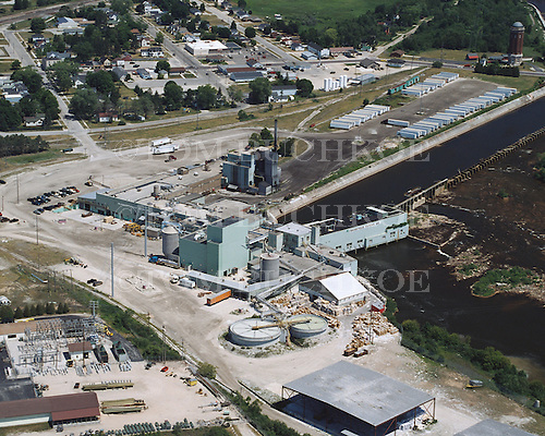 Manistique Paper Mill, Manistrique, Upper Peninsula of Michigan.