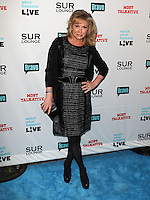 Kathy Hilton.Bravo's Andy Cohen's Book Release Party For &quot;Most Talkative: Stories From The Front Lines Of Pop Held at SUR Lounge, West Hollywood, California, USA..May 14th, 2012.full length black  dress leather hand on hip.CAP/ADM/KB.&copy;Kevan Brooks/AdMedia/Capital Pictures.
