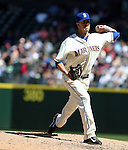 Seattle Mariners Tyler Olson pitches against the Texas Rangers at SAFECO Field in Seattle on April 10, 2015.  The Mariners came from behind to beat the Rangers 11-10.  Jim Bryant Photo. ©2015. All Rights Reserved.