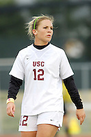 USC's Amy Rodriguez. USC defeated Missouri 1-0 in overtime of an NCAA tournament women's soccer second round match at Walton Stadium in Columbia, Missouri on November 18, 2007.