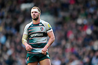 Lachlan McCaffrey of Leicester Tigers looks on during a break in play. Aviva Premiership match, between Leicester Tigers and Saracens on March 20, 2016 at Welford Road in Leicester, England. Photo by: Patrick Khachfe / JMP