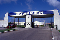 Entrance to the Duty Free Zone or Zona Libre in the city of Colon. Panama