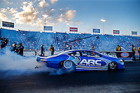 Jul 8, 2016; Joliet, IL, USA; NHRA pro stock driver Alan Prusiensky during qualifying for the Route 66 Nationals at Route 66 Raceway. Mandatory Credit: Mark J. Rebilas-USA TODAY Sports