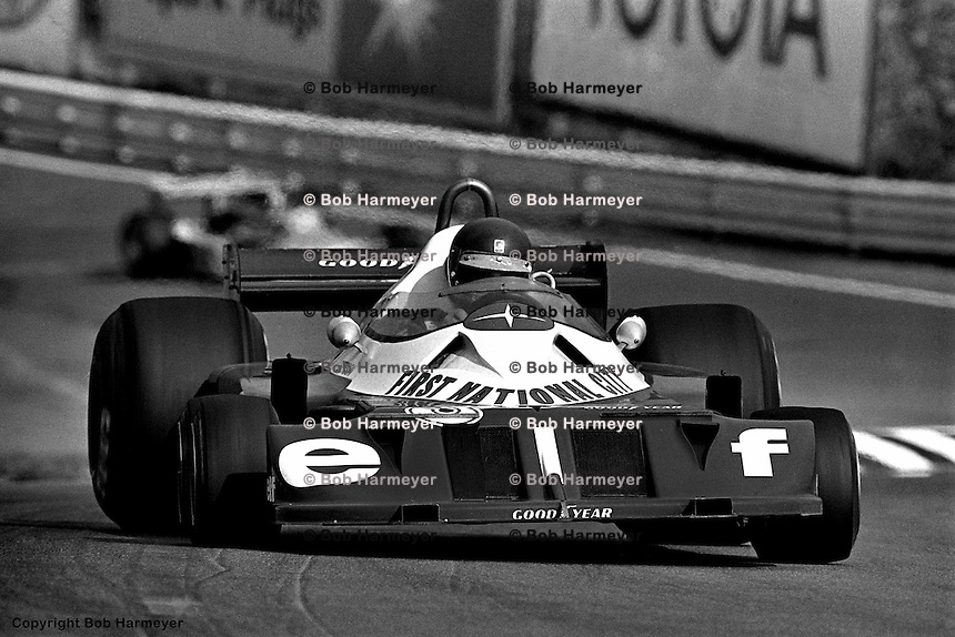 WATKINS GLEN, NY - OCTOBER 2: Ronnie Peterson drives the Tyrrell P34 6/Ford Cosworth DFV during practice for the United States Grand Prix East on October 2, 1977, at the Watkins Glen Grand Prix Race Course near Watkins Glen, New York.