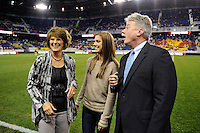 Alex Morgan, Panasonic NA CEO Joe Taylor. The men's national team of the United States (USA) was defeated by Ecuador (ECU) 1-0 during an international friendly at Red Bull Arena in Harrison, NJ, on October 11, 2011.