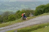 Competitors climb the challenging iconic and notorious 6km 10% stretch of road namely The Tumble during the Wales Velothon 2016 140km route cycling race. Spectators watching the battle against the hill <br /> <br /> <br /> Jeff Thomas Photography -  www.jaypics.photoshelter.com - <br /> e-mail swansea1001@hotmail.co.uk -<br /> Mob: 07837 386244 -