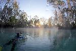 Ruben At Back Pool Filming At Three Sisters Spring